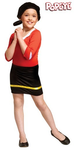 Child Olive Oyl Costume