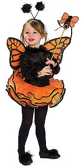 Child Orange Butterfly Costume