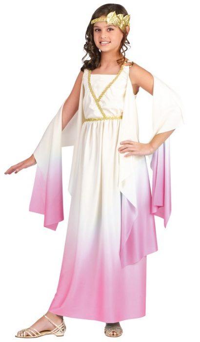 Child Pink Athena Goddess Costume