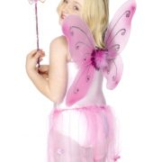 Child Pink Butterfly Wings Kit