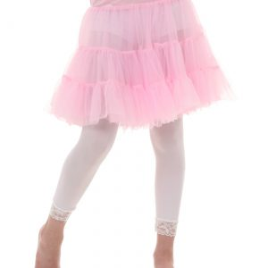 Child Pink Knee Length Crinoline