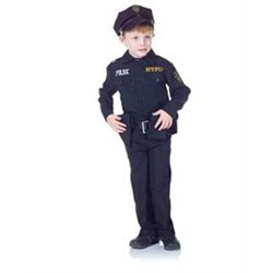 Child Police Costume Set