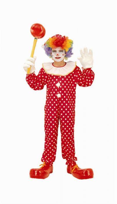 Child Polka Dot Clown Costume