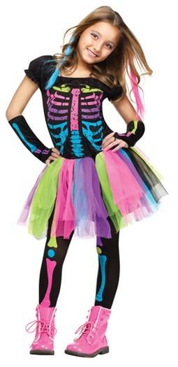 Child Punk Skeleton Costume
