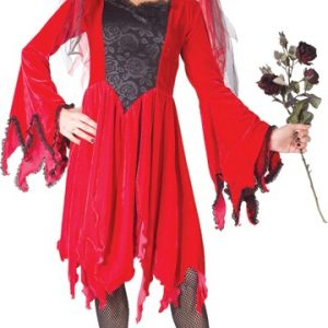 Child Red Devil Bride Costume
