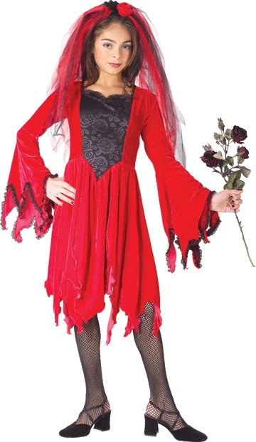 Child Red Devil Bride Costume