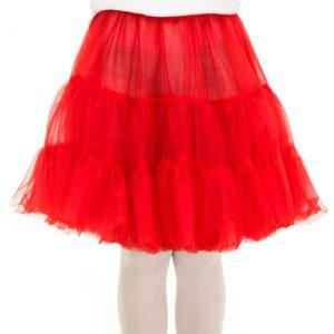 Child Red Knee Length Crinoline