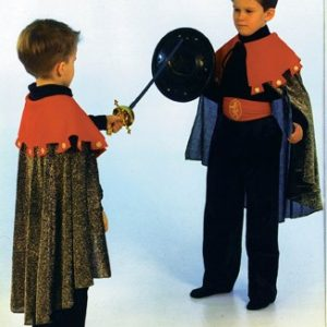 Child Red Knight Cape and Collar