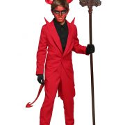 Child Red Suit Devil Costume