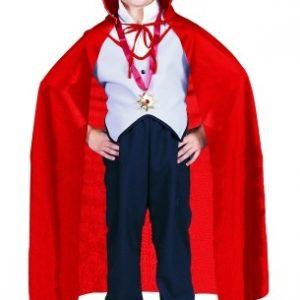 Child Red Taffeta Cape