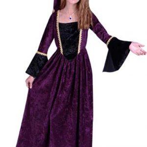 Child Renaissance Girl Costume (purple)