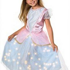 Child Renaissance Queen Costume with Fiber Optic Lights