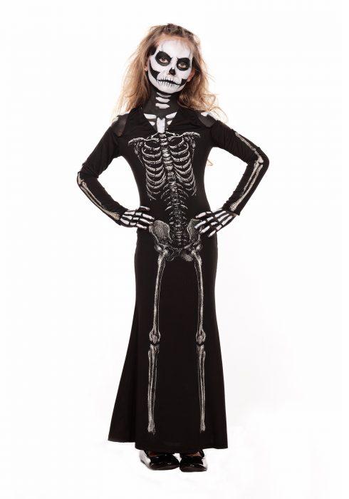 Child Skeleton Sweetie Maxi Dress