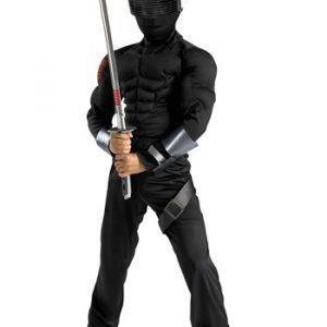 Child Snake Eyes Ninja Muscle Costume