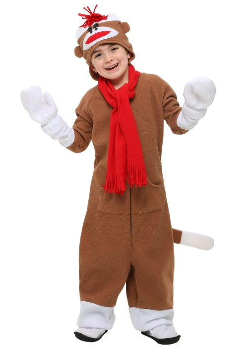 Child Sock Monkey Costume