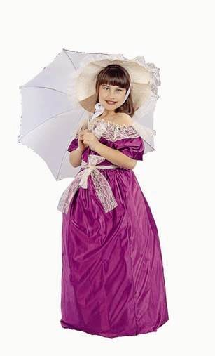 Child Southern Belle Costume w/hat