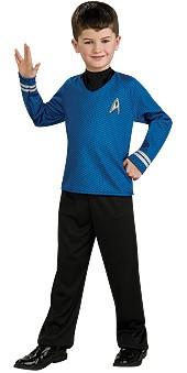 Child Star Trek Blue Shirt Costume