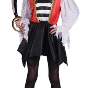 Child Striped Pirate Girl Costume