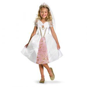 Child Tangled Rapunzel Wedding Gown