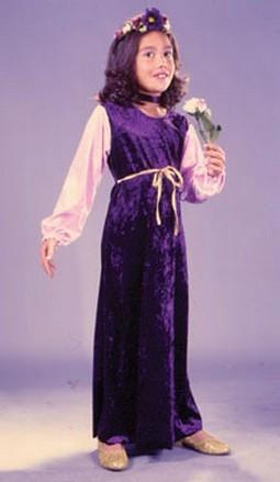 Child Velvet Flower Princess Costume