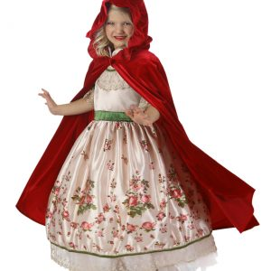 Child Vintage Red Riding Hood Set