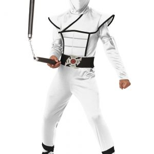 Child White Stealth Ninja Costume