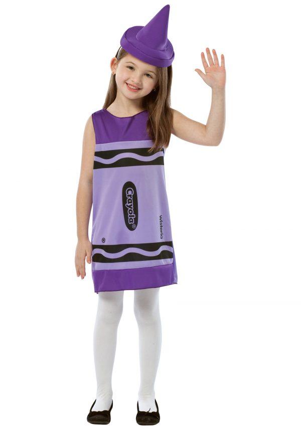 Child Wisteria Crayon Dress