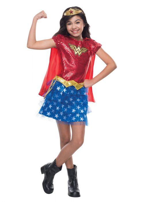 Child Wonder Woman Sequined Costume