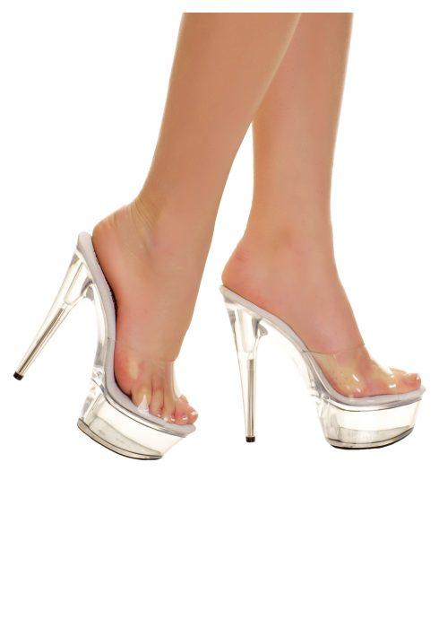 Clear Slip In Heels