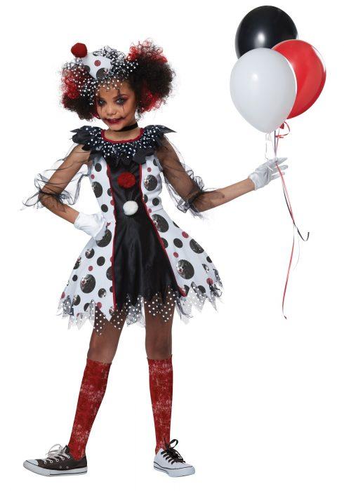 Creepy Clown Girls Costume
