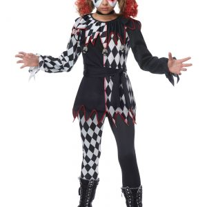 Creepy Jester Girl Costume