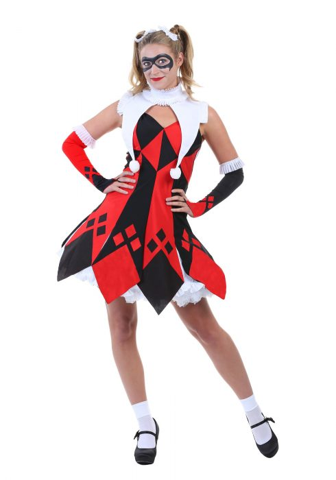 Cute Court Jester Women's Costume