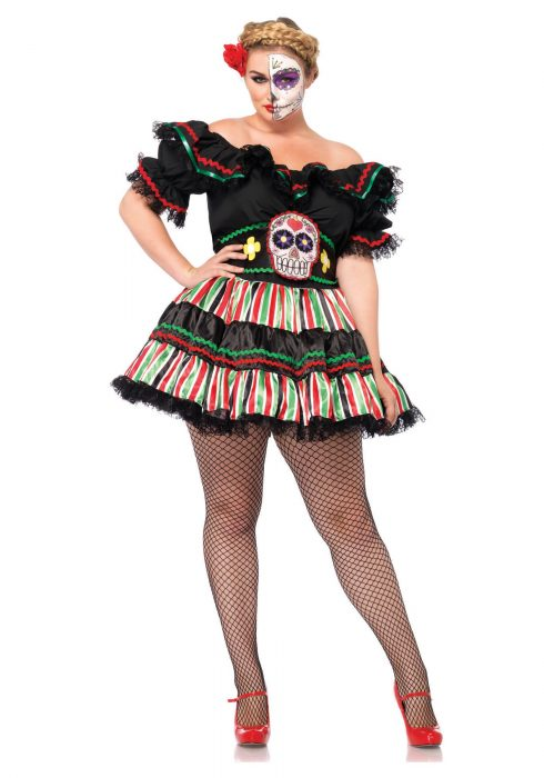 Day of the Dead Doll Plus Size Costume
