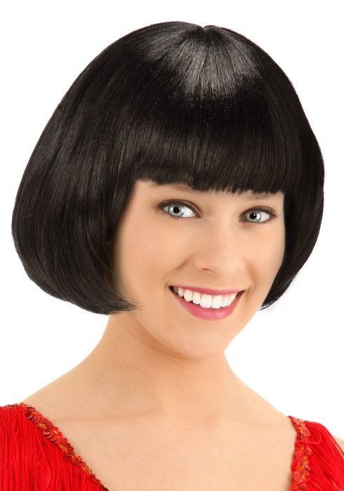Deluxe Black Flapper Wig