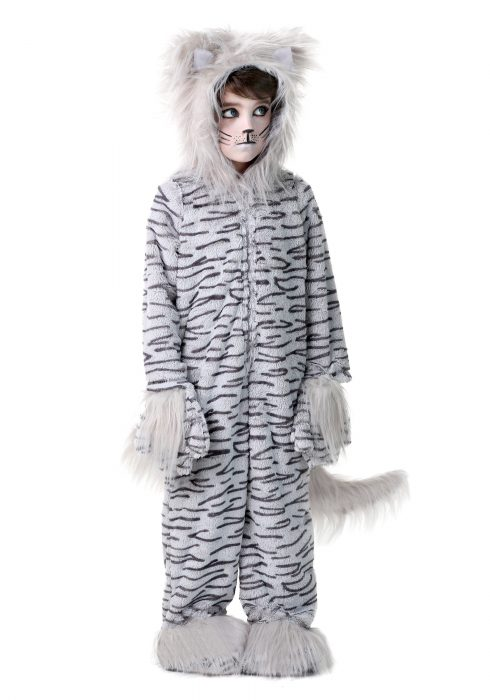 Deluxe Gray Cat Kids Costume