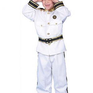 Deluxe Kid's Navy Admiral Costume