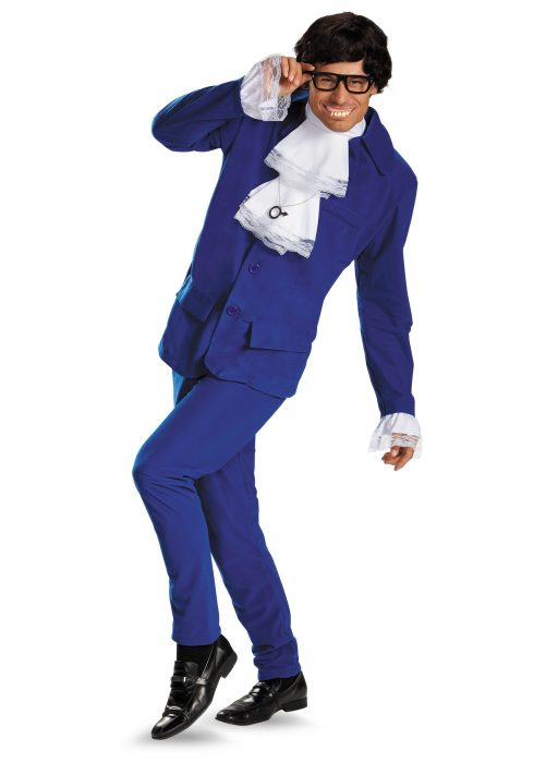 Deluxe Mens Austin Powers Plus Size Costume
