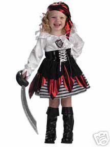 Deluxe Petit Child Pirate Costume