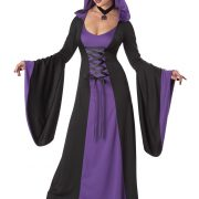 Deluxe Purple Hooded Robe