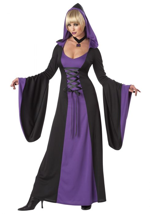 Deluxe Purple Hooded Robe