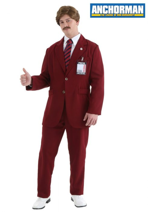 Deluxe Ron Burgundy Suit