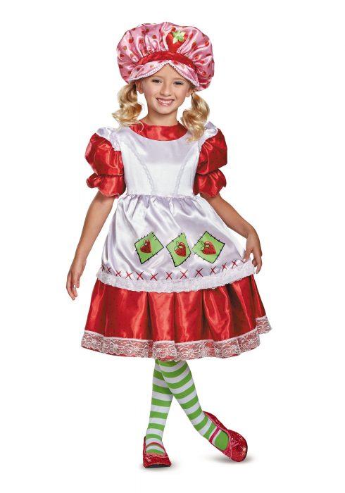 Deluxe Vintage Child Strawberry Shortcake Costume