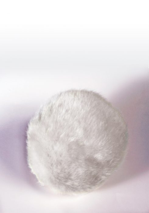 Deluxe White Faux Fur Bunny Tail