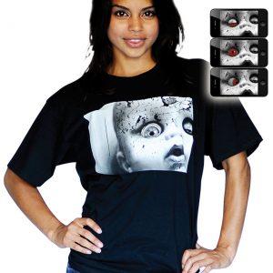 Digital Dudz Creepy Doll Face Shirt