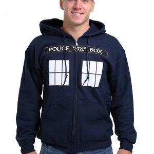 Doctor Who I Am TARDIS Costume Hooded Sweatshirt