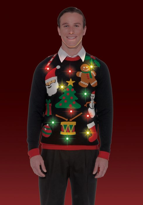 Everything Christmas Lighted Sweater