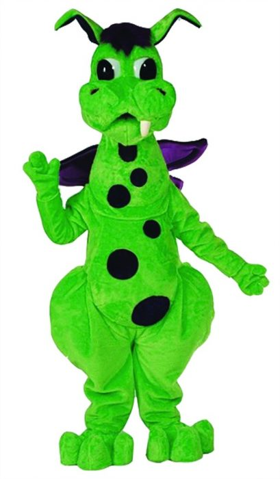 Fang Dragon Mascot Costume