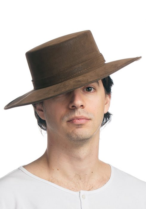 Faux Leather Spanish Hat