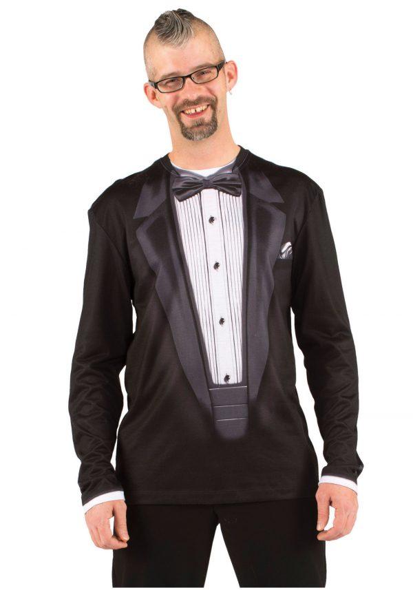 Faux Real Long Sleeve Tux Shirt