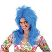 Feathered Glam Wig - Blue